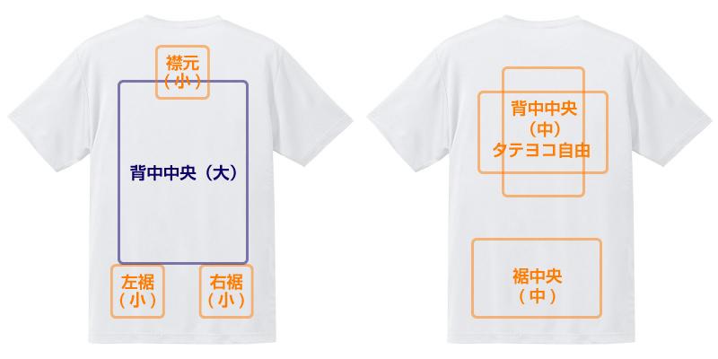 オーダーメイドTシャツシャツ 背面